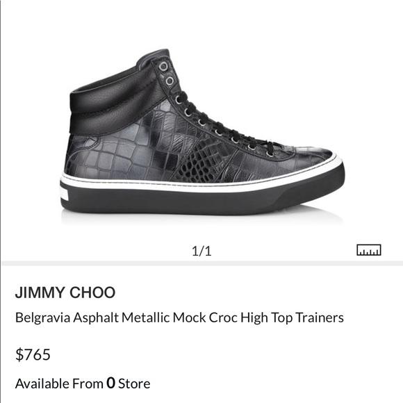 jimmy choo high top trainers